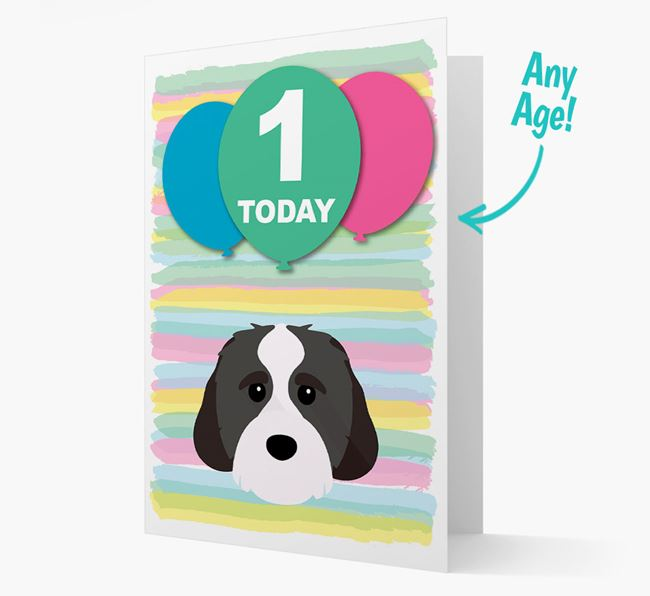 Ages 1-18 Birthday Card with Cavachon Yappicon