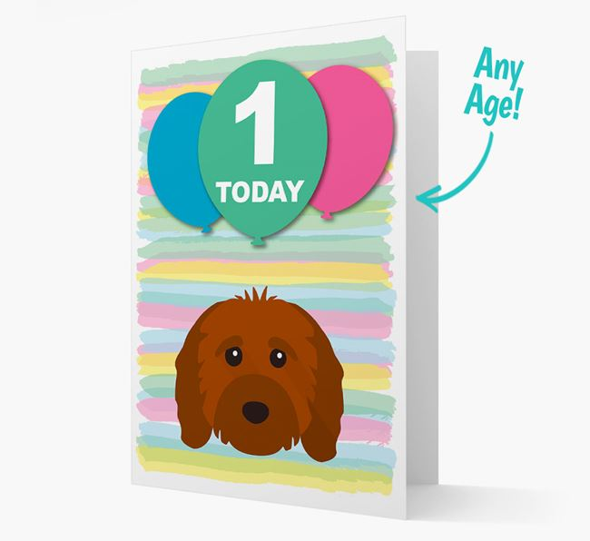 Ages 1-18 Birthday Card with Cavapoo Yappicon