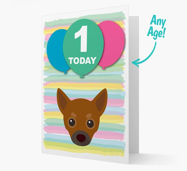 Ages 1-18 Birthday Card with Chihuahua Yappicon