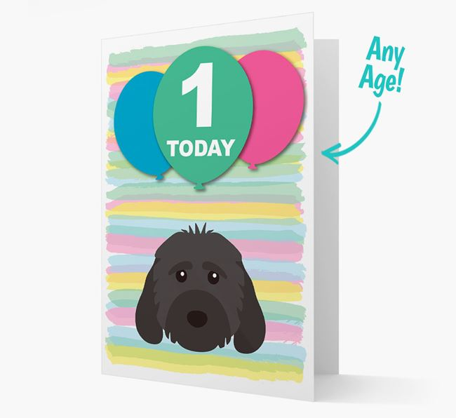 Ages 1-18 Birthday Card with Cockapoo Yappicon