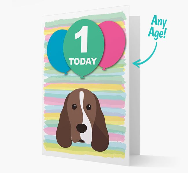 Ages 1-18 Birthday Card with Cocker Spaniel Yappicon