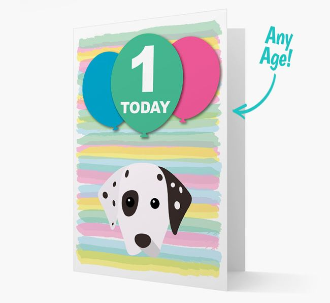 Ages 1-18 Birthday Card with Dalmatian Yappicon