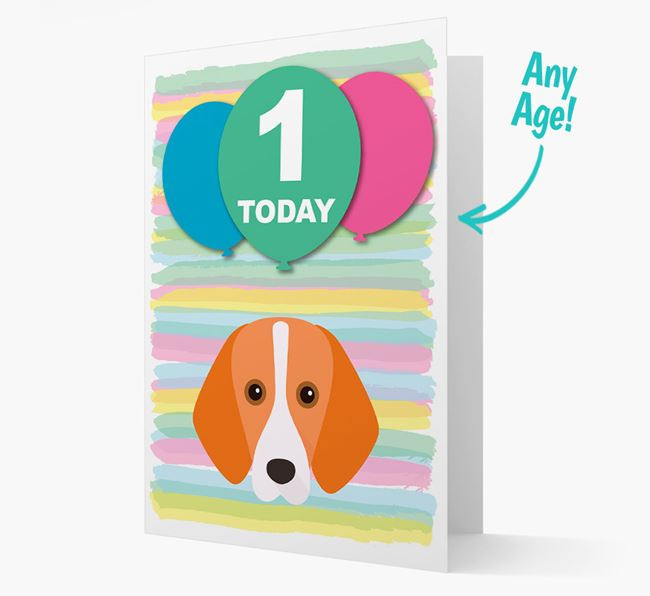 Ages 1-18 Birthday Card with Foxhound Yappicon