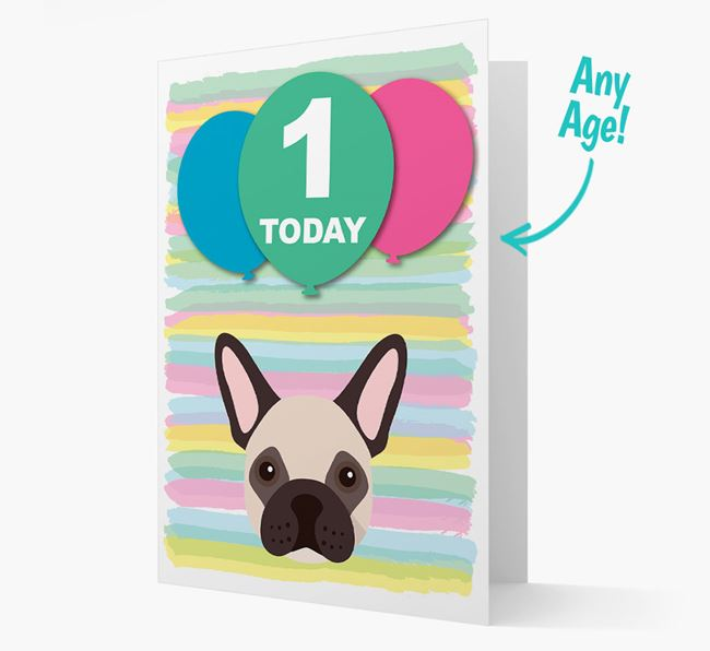 Ages 1-18 Birthday Card with French Bulldog Yappicon