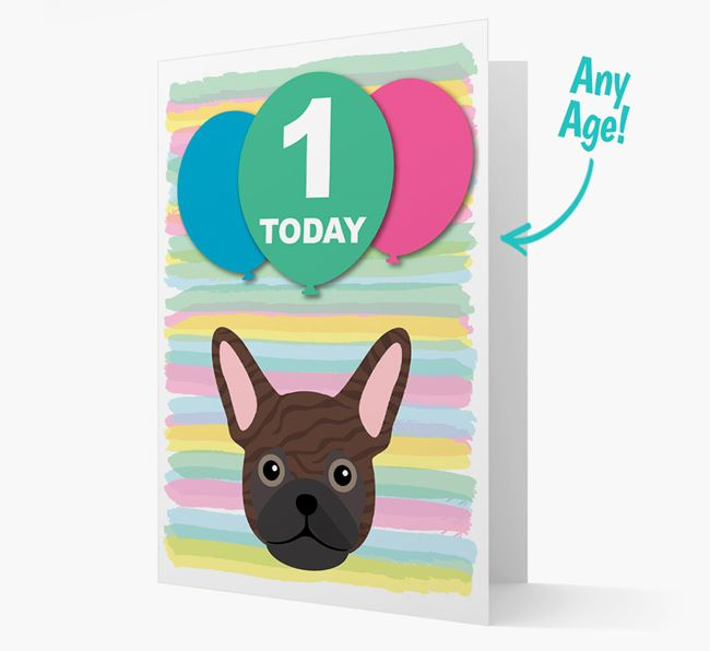 Ages 1-18 Birthday Card with Frug Yappicon