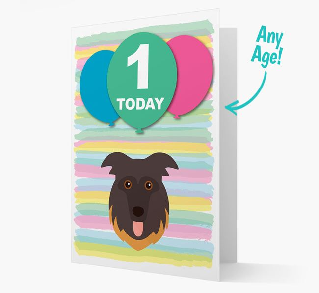 Ages 1-18 Birthday Card with German Shepherd Yappicon