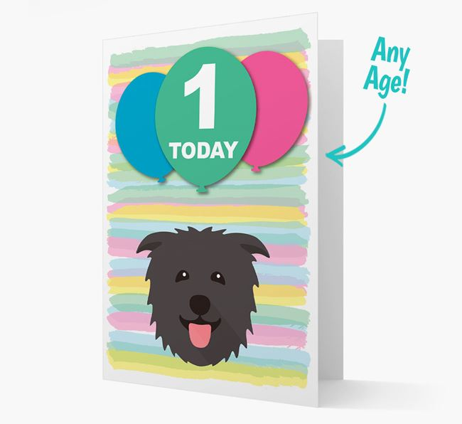 Ages 1-18 Birthday Card with Glen Of Imaal Terrier Yappicon