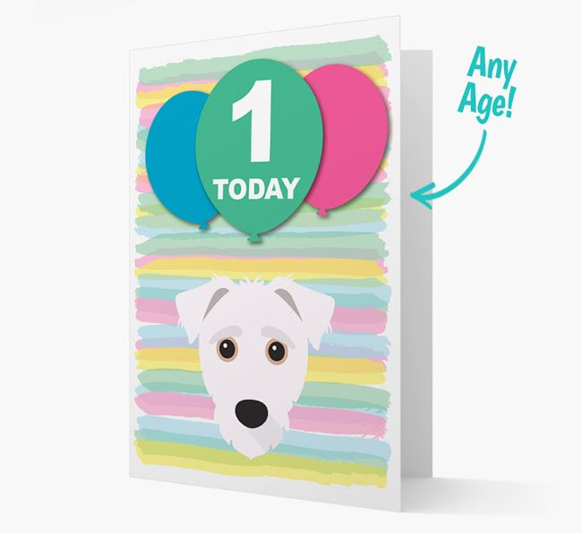 Ages 1-18 Birthday Card with Jack-A-Poo Yappicon