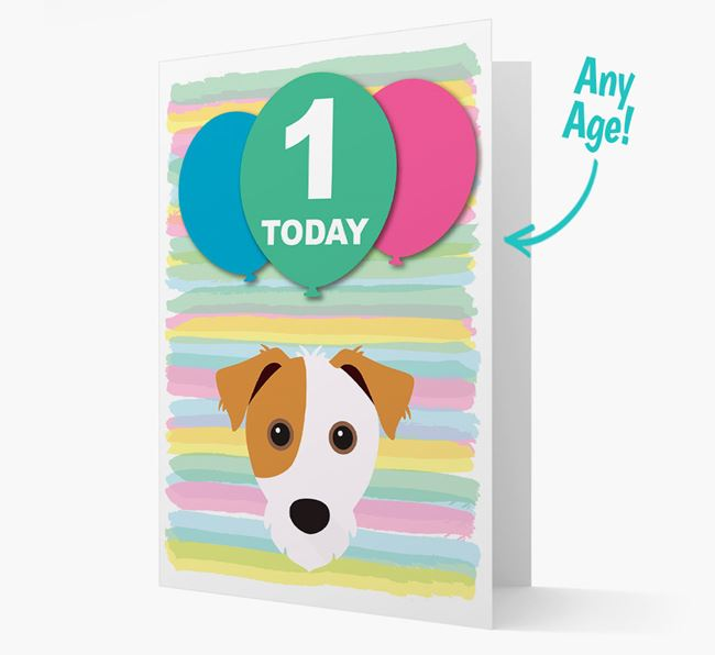 Ages 1-18 Birthday Card with Jack Russell Terrier Yappicon