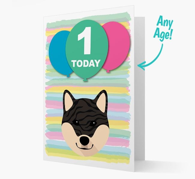 Ages 1-18 Birthday Card with Japanese Shiba Yappicon
