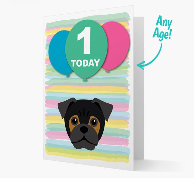 Ages 1-18 Birthday Card with Jug Yappicon