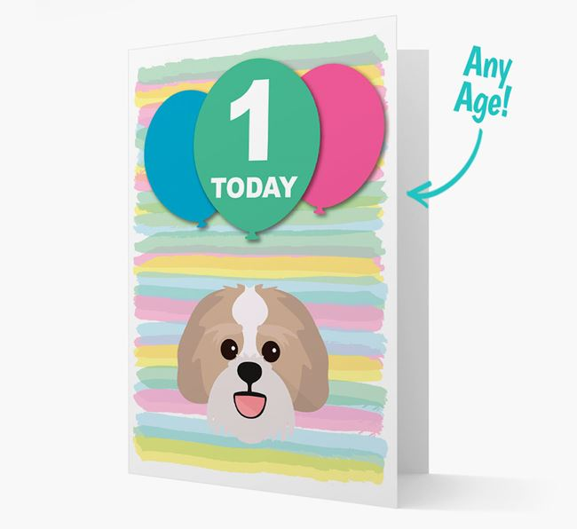 Ages 1-18 Birthday Card with Lachon Yappicon