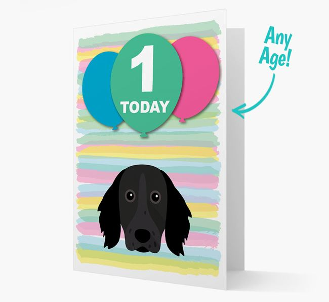 Ages 1-18 Birthday Card with Large Munsterlander Yappicon