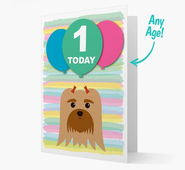 Ages 1-18 Birthday Card with Maltese Yappicon