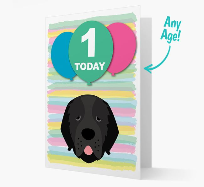Ages 1-18 Birthday Card with Newfoundland Yappicon
