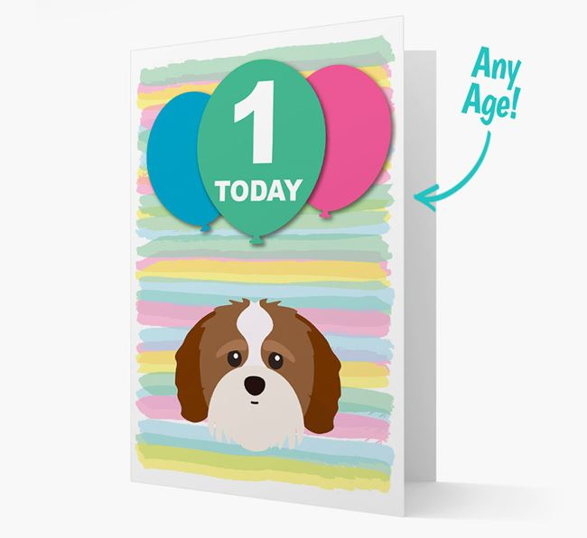 Ages 1-18 Birthday Card with Shih-poo Yappicon