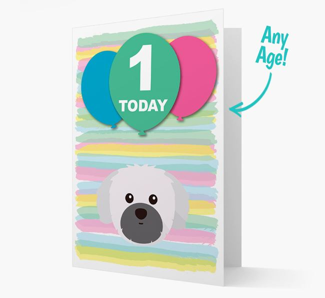 Ages 1-18 Birthday Card with Shih Tzu Yappicon