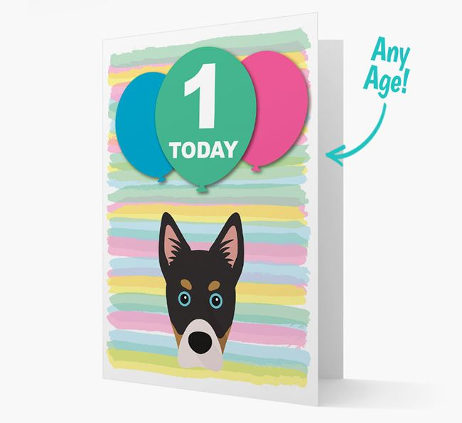 Ages 1-18 Birthday Card with Siberian Cocker Yappicon