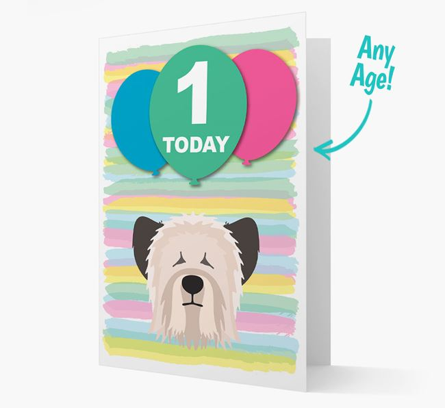 Ages 1-18 Birthday Card with Skye Terrier Yappicon