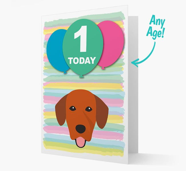 Ages 1-18 Birthday Card with Springador Yappicon
