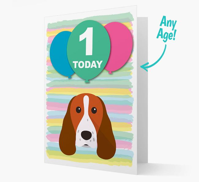 Ages 1-18 Birthday Card with Springer Spaniel Yappicon