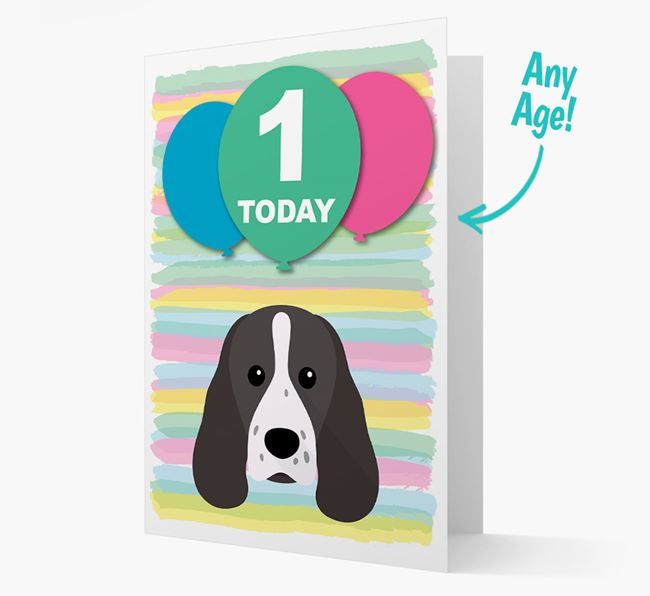 Ages 1-18 Birthday Card with Sprocker Yappicon