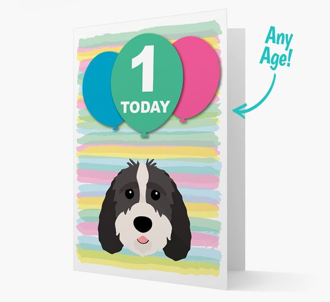 Ages 1-18 Birthday Card with Sproodle Yappicon