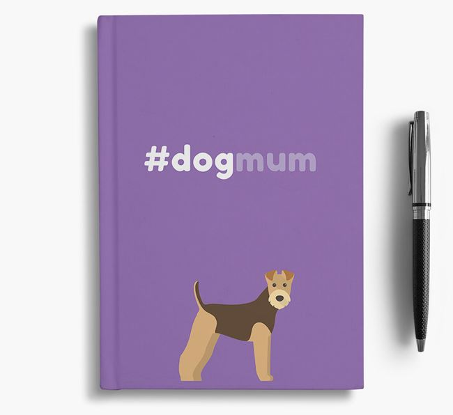 #Dogmum Notebook with Airedale Terrier Icon