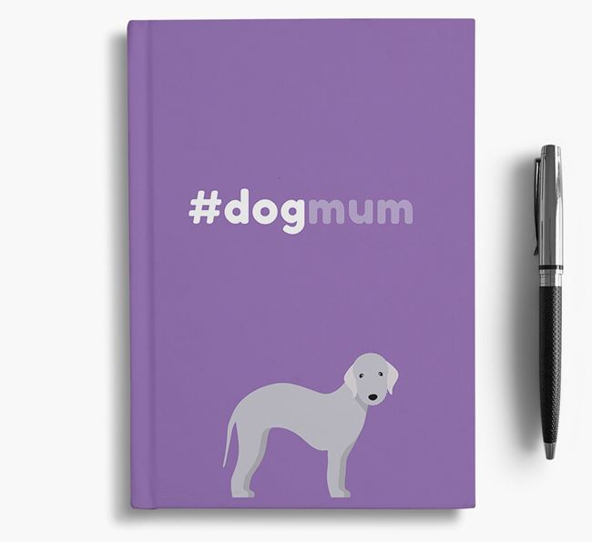 #Dogmum Notebook with Bedlington Terrier Icon
