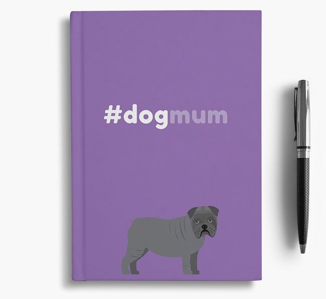 #Dogmum Notebook with Bull Pei Icon