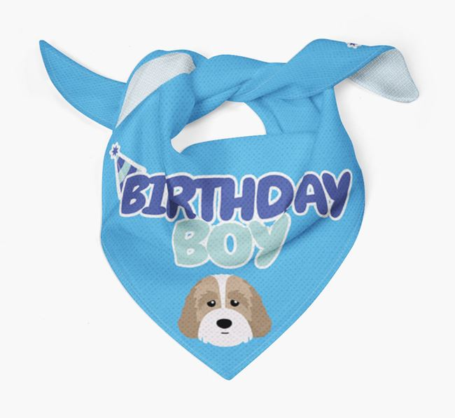 'Birthday Boy' Bandana with Australian Labradoodle Icon