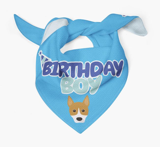 'Birthday Boy' Bandana with Basenji Icon