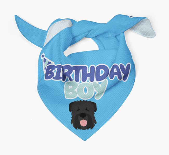 'Birthday Boy' Bandana with Black Russian Terrier Icon