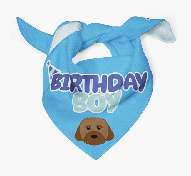 'Birthday Boy' Bandana with Cavachon Icon