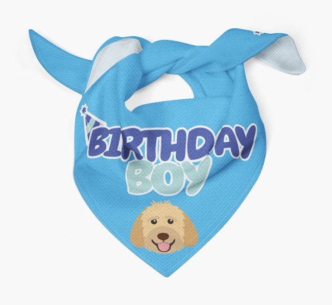 'Birthday Boy' Bandana with Goldendoodle Icon