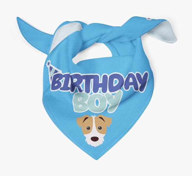 'Birthday Boy' Bandana with Jack Russell Terrier Icon