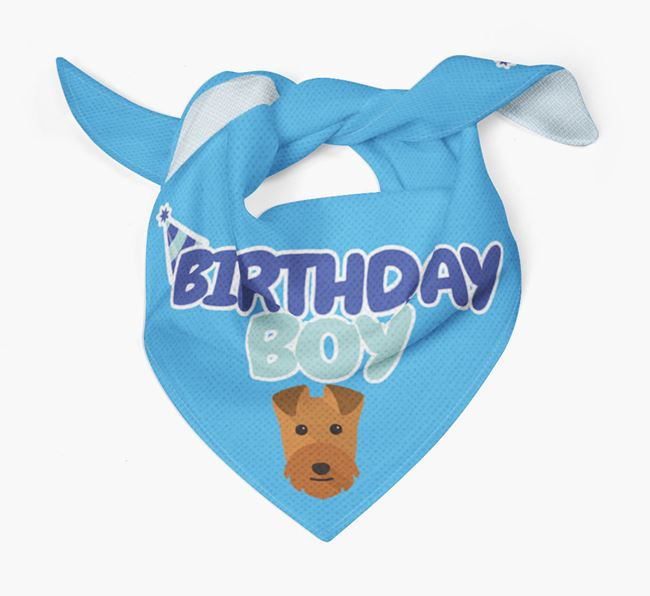 'Birthday Boy' Bandana with Lakeland Terrier Icon