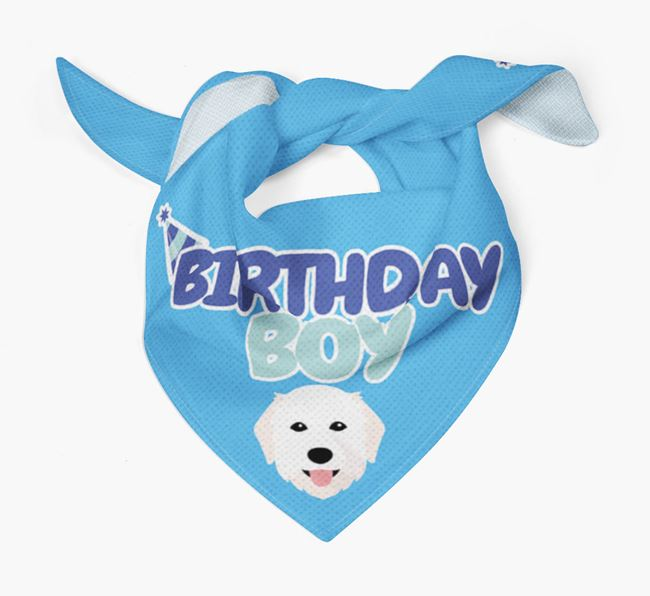 'Birthday Boy' Bandana with Maremma Sheepdog Icon