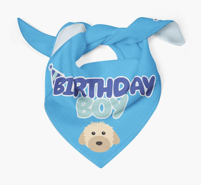 'Birthday Boy' Bandana with Powderpuff Chinese Crested Icon