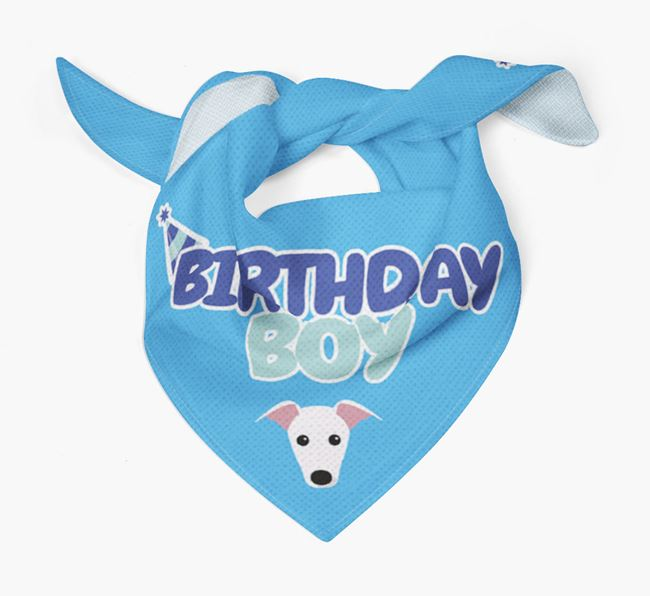 'Birthday Boy' Bandana with Whippet Icon