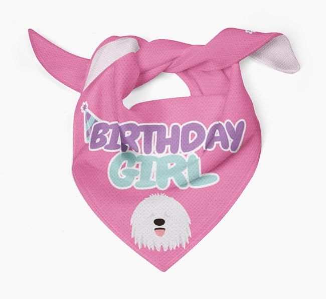 'Birthday Girl' Bandana with Bergamasco Icon