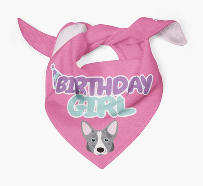 'Birthday Girl' Bandana with Corgi Icon