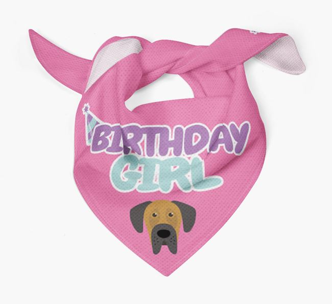 'Birthday Girl' Bandana with Dog Icon