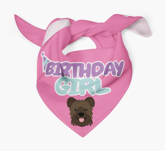 'Birthday Girl' Bandana with Hungarian Pumi Icon