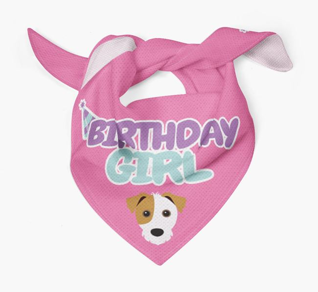 'Birthday Girl' Bandana with Jack Russell Terrier Icon