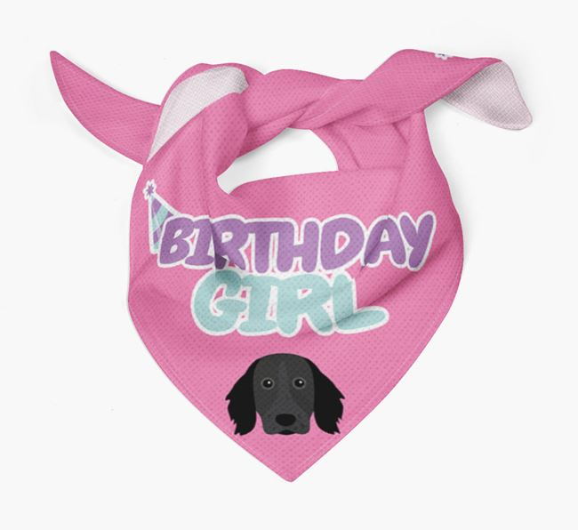 'Birthday Girl' Bandana with Large Munsterlander Icon