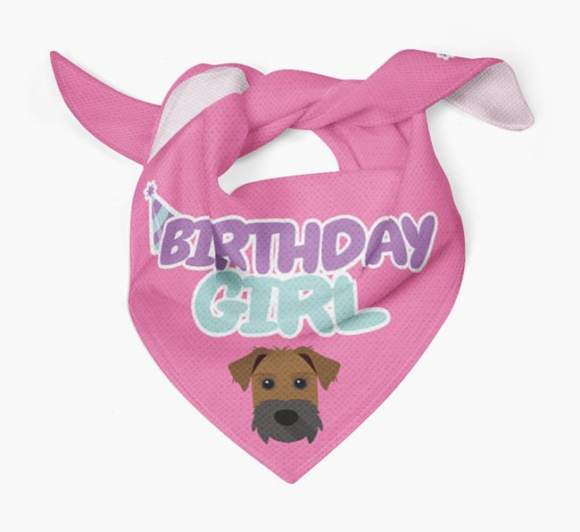 'Birthday Girl' Bandana with Patterdale Terrier Icon
