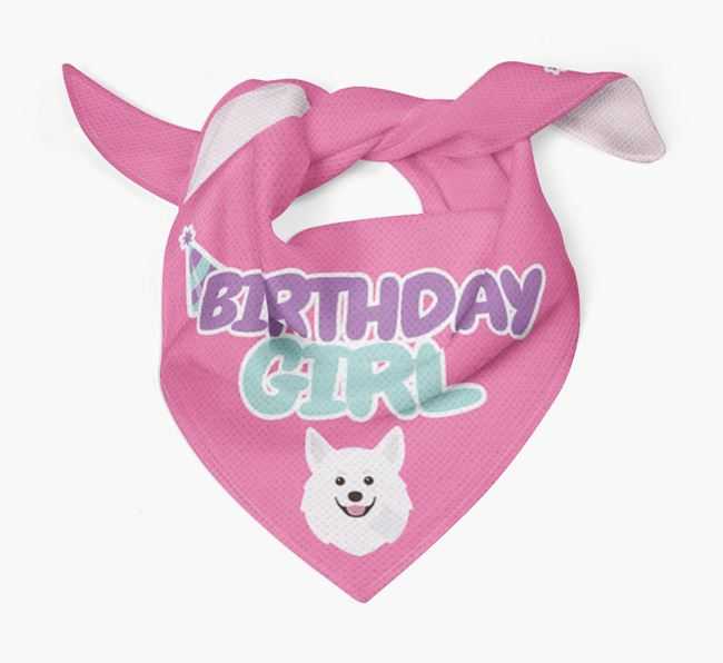 'Birthday Girl' Bandana with Pomchi Icon