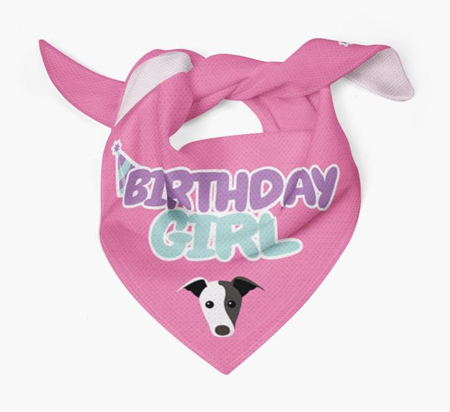 'Birthday Girl' Bandana with Whippet Icon