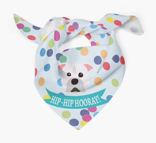'Hip-Hip Hooray!'' Bandana with American Pit Bull Terrier Icon